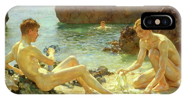 Sunbather iPhone Case - Sun Bathers by Henry Scott Tuke