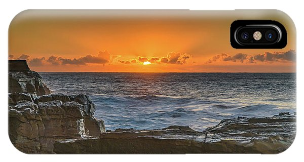 Sun Rising Over The Sea IPhone Case