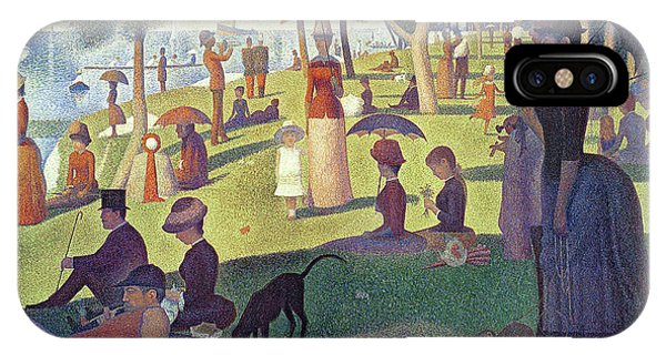 Dog iPhone X Case - Sunday Afternoon On The Island Of La Grande Jatte by Georges Pierre Seurat