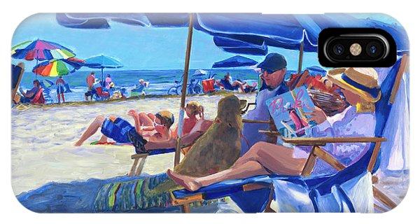 Umbrella Pine iPhone Case - Sunday Umbrella Blues by Candace Lovely