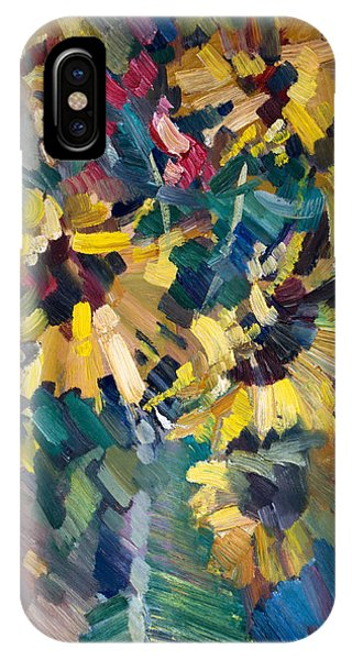 Impressionism iPhone X Case - Sunflowers by Nikolay Malafeev