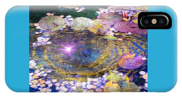 Sunglint On Autumn Lily Pond II IPhone Case