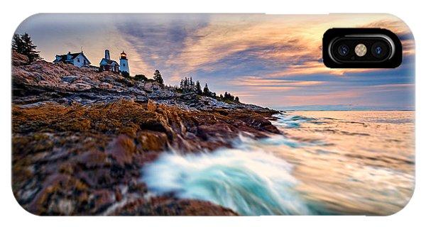 Navigation iPhone Case - Summer Sunrise At Pemaquid Point by Rick Berk