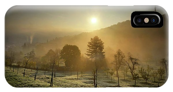 Sunrise From Petrin Yard In Prague, Czech Republic IPhone Case
