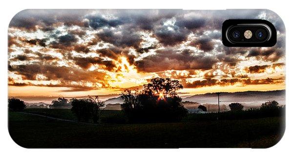 Sunrise Over Fields IPhone Case