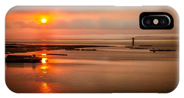 Tidal Marsh iPhone Case - Sunrise Reflections by Robert Bales
