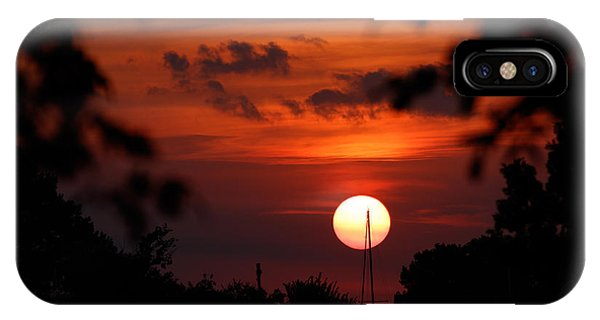 Sunset At Lake Hefner IPhone Case
