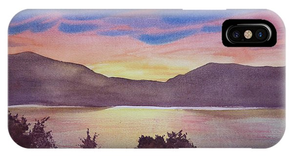Sunset At Woodhead Campground IPhone Case