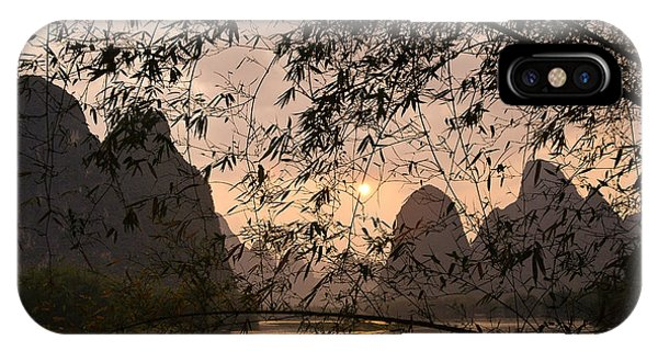 Sunset On The Li River IPhone Case