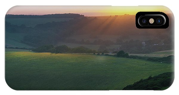 Sunset Over The South Downs IPhone Case