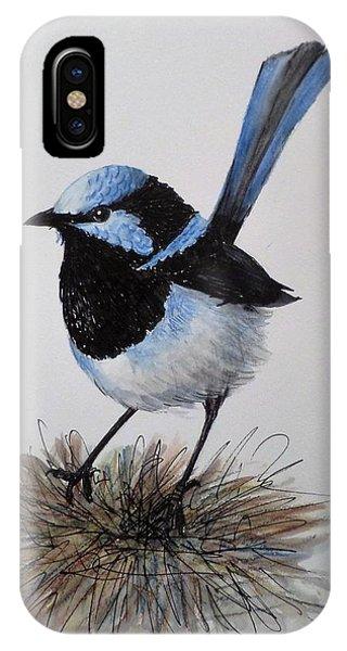Superb Blue Wren IPhone Case