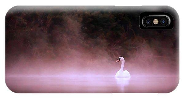 Swan iPhone Case - Swan In The Mist by Roeselien Raimond