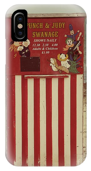 Dorset iPhone Case - Swanage Punch And Judy by Linsey Williams