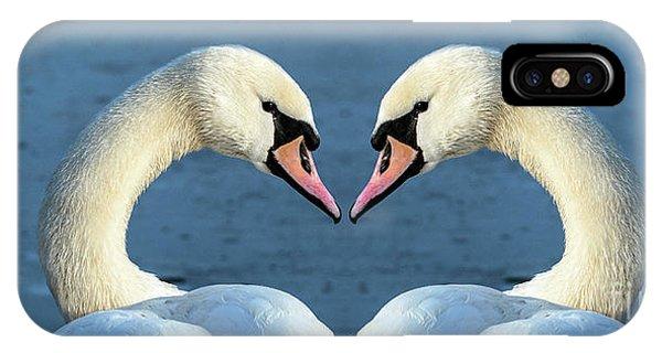 Swans Portrait IPhone Case