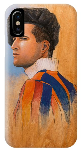 IPhone Case featuring the painting Swiss Guard by Joe Winkler