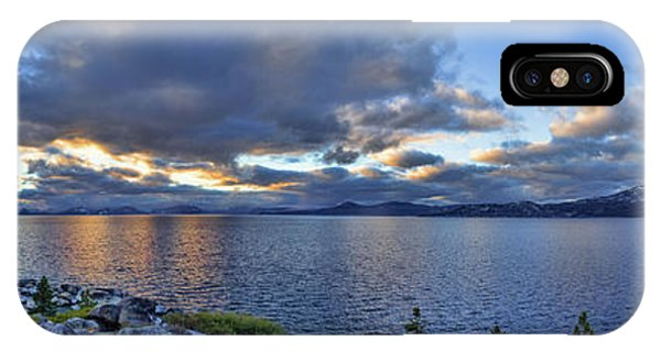 Tahoe Sunset Panorama IPhone Case