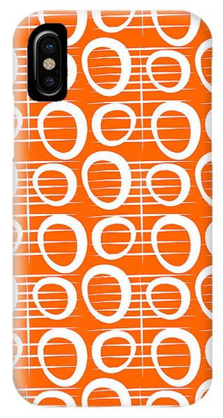 Pattern iPhone Case - Tangerine Loop by Linda Woods