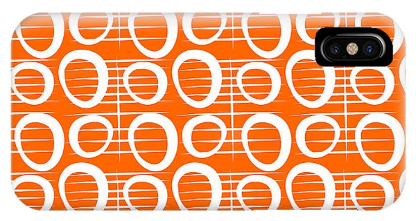 Gallery Wall iPhone Case - Tangerine Loop by Linda Woods