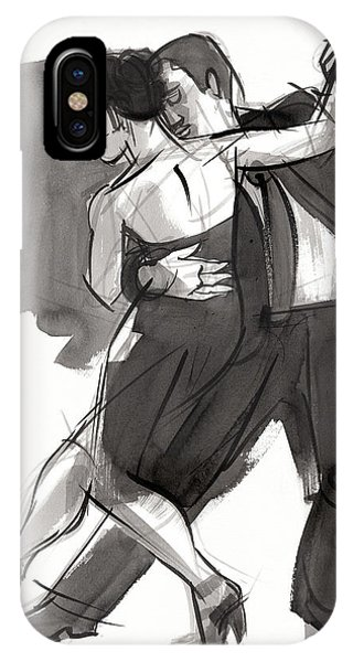 IPhone Case featuring the painting Tango 9 by Judith Kunzle