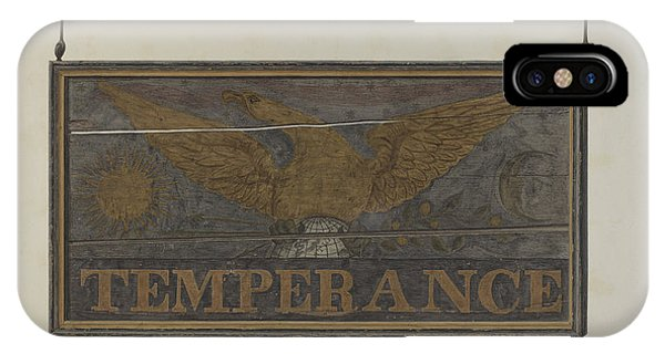 "iPhone Case - Tavern Sign: ""temperance"" by John Matulis"