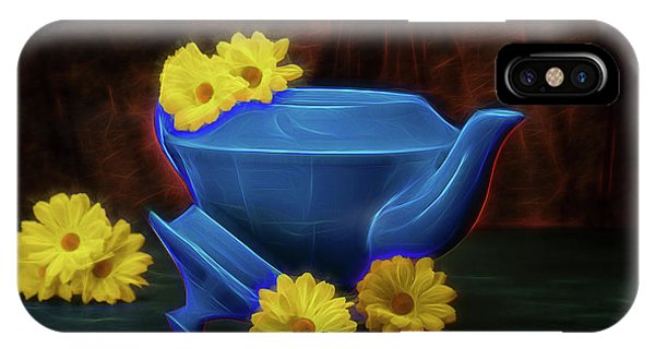 Tea Kettle With Daisies Still Life IPhone Case