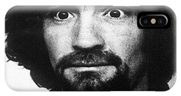 Charles Manson Mug Shot 1969 Vertical  IPhone Case