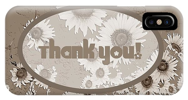 IPhone Case featuring the digital art Thank You Card Daisies by Deleas Kilgore
