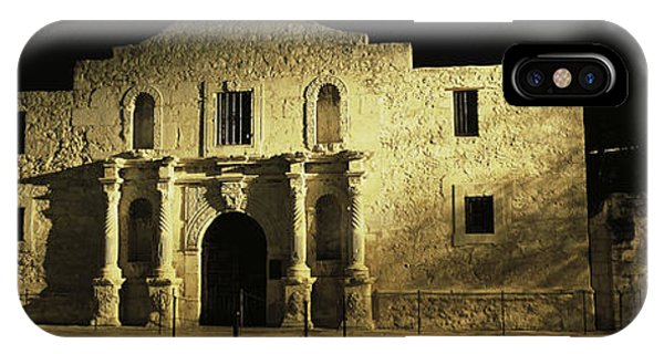 The Alamo iPhone Case - The Alamo San Antonio Tx by Panoramic Images
