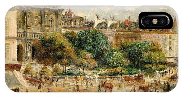 Clock iPhone Case - Place De La Trinite, 1893 by Pierre Auguste Renoir