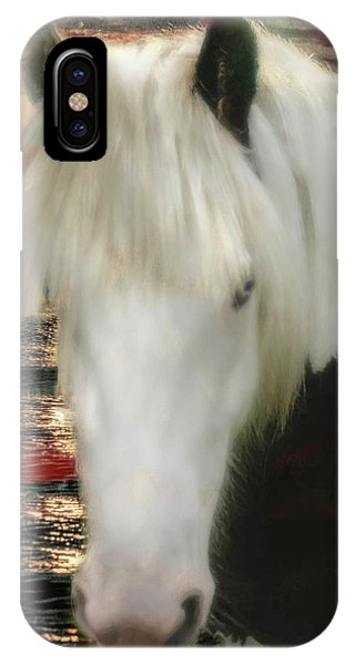 The Beautiful Face Of A Gypsy Vanner Horse IPhone Case