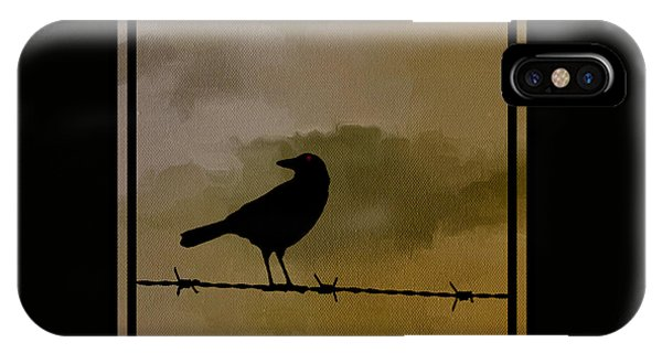 The Black Crow Knows IPhone Case
