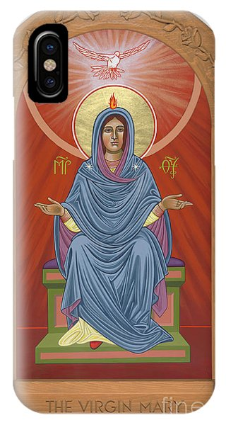 IPhone Case featuring the painting The Blessed Virgin Mary Mother Of The Church by William Hart McNichols