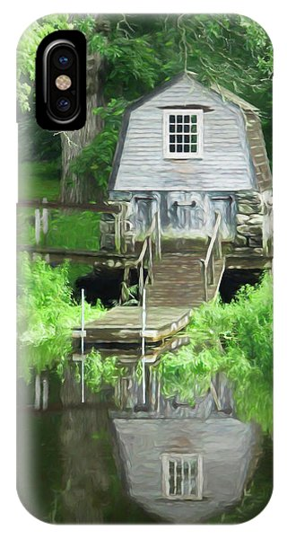 IPhone Case featuring the photograph Painted Effect - Boathouse by Susan Leonard