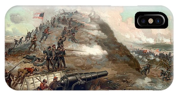 Fort iPhone Case - The Capture Of Fort Fisher by War Is Hell Store