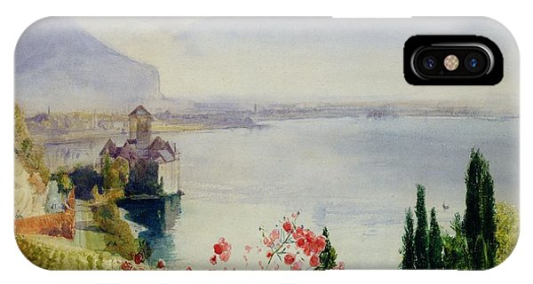 Hills iPhone Case - The Castle At Chillon by John William Inchbold