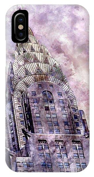 Manhattan Skyline iPhone Case - The Chrysler Building by Jon Neidert