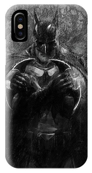 Bat iPhone Case - The Detective by Steve Goad