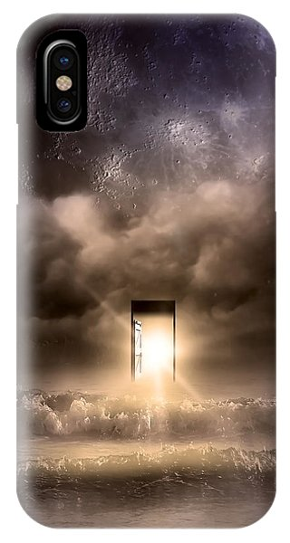 Full Moon iPhone Case - The Door by Svetlana Sewell