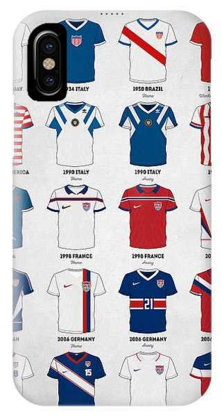 Soccer iPhone Case - The Evolution Of The Us World Cup Soccer Jersey by Taylan Apukovska