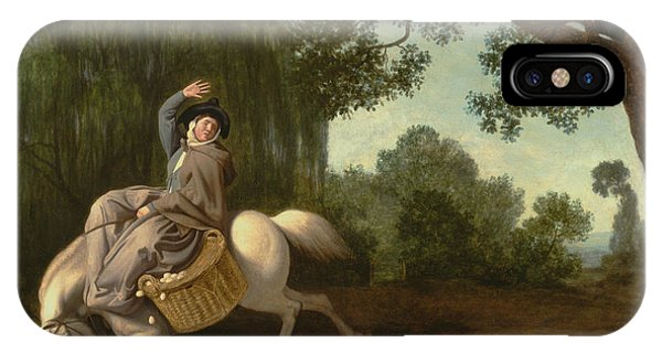 Accident iPhone Case - The Farmer's Wife And The Raven by George Stubbs
