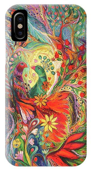 Mizrach iPhone Case - The Flowers And Fruits by Elena Kotliarker
