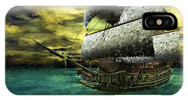 IPhone Case featuring the painting The Flying Dutchman by Sandra Bauser Digital Art
