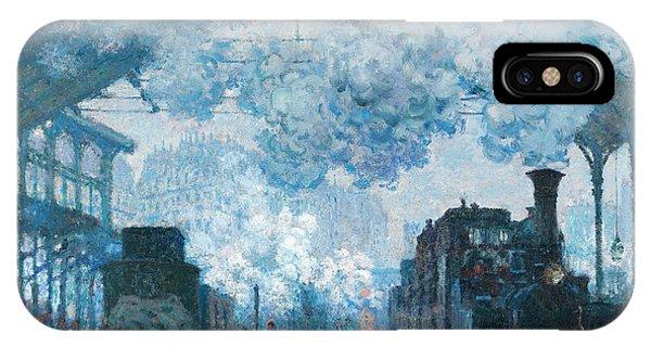 Passenger Train iPhone Case - The Gare Saint-lazare Arrival Of A Train by Claude Monet