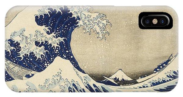 Tidal Waves iPhone Case - The Great Wave by Katsushika Hokusai
