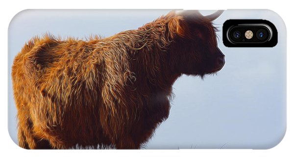 Glen iPhone Case - The Highland Cow by Smart Aviation