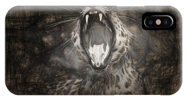 The Leopard's Tongue Rolling Roar IIi IPhone Case