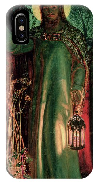 Life Of Christ iPhone Case - The Light Of The World by William Holman Hunt