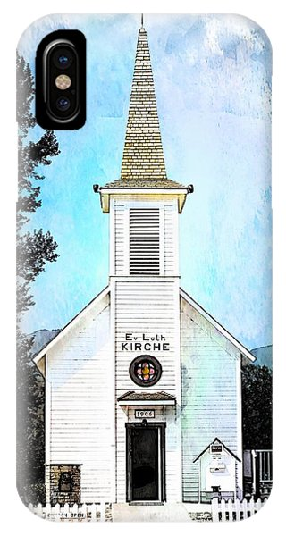 The Little White Church In Elbe IPhone Case