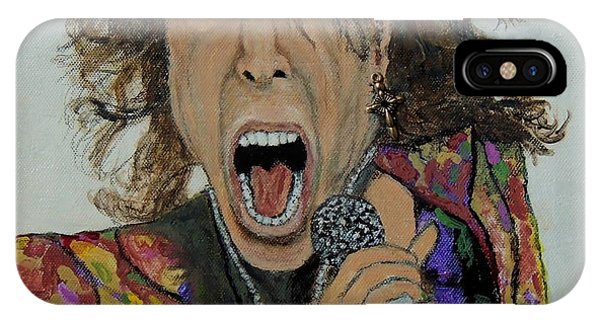 The Madman Of Rock.steven Tyler. IPhone Case