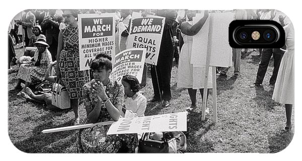 Equal Rights iPhone Case - The March On Washington  At Washington Monument Grounds by Nat Herz